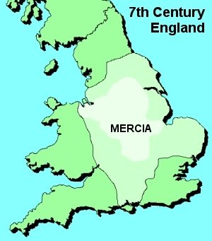 Map of Anglo-saxon area